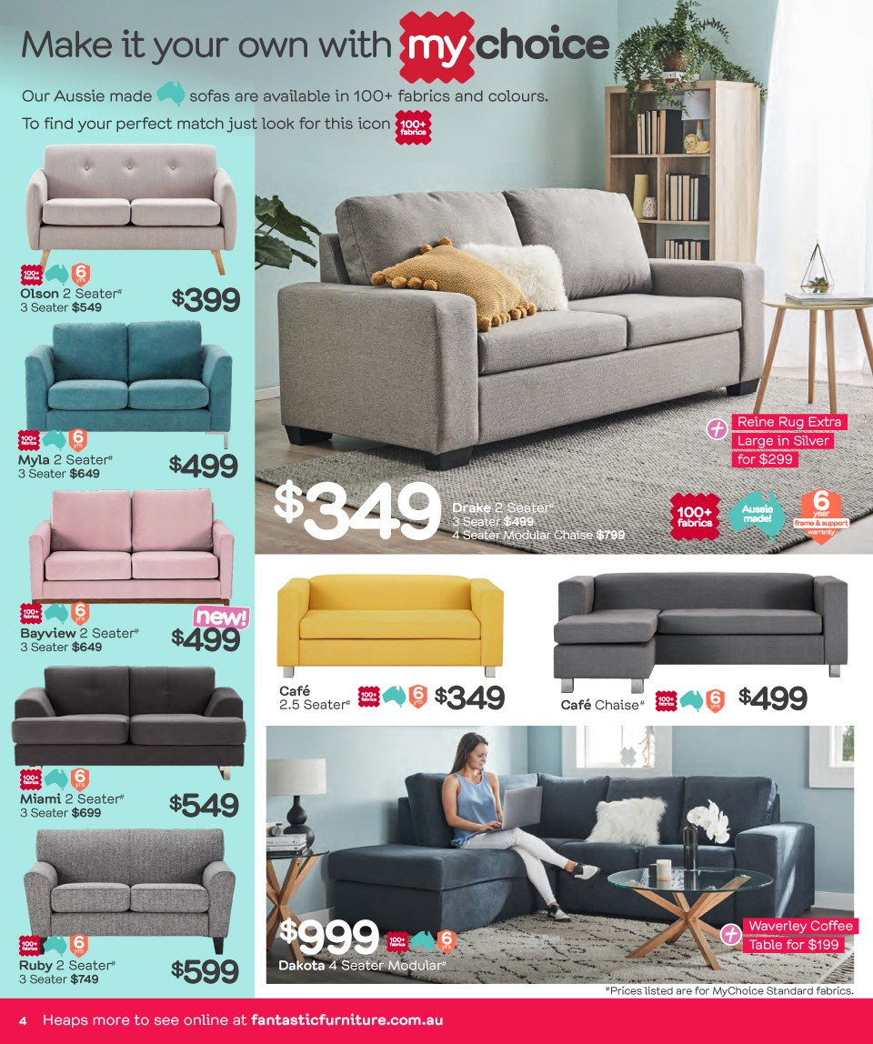 Fantastic Furniture catalogue  - 26.3.2018 - 22.4.2018. Page 4.