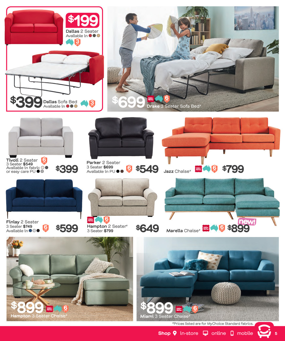 Fantastic Furniture catalogue  - 26.3.2018 - 22.4.2018. Page 5.
