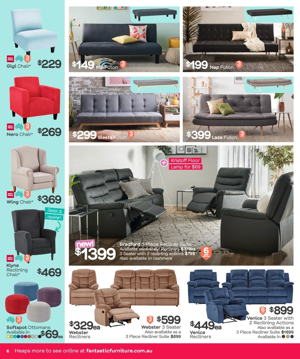 Fantastic Furniture catalogue  - 26.3.2018 - 22.4.2018. Page 6.