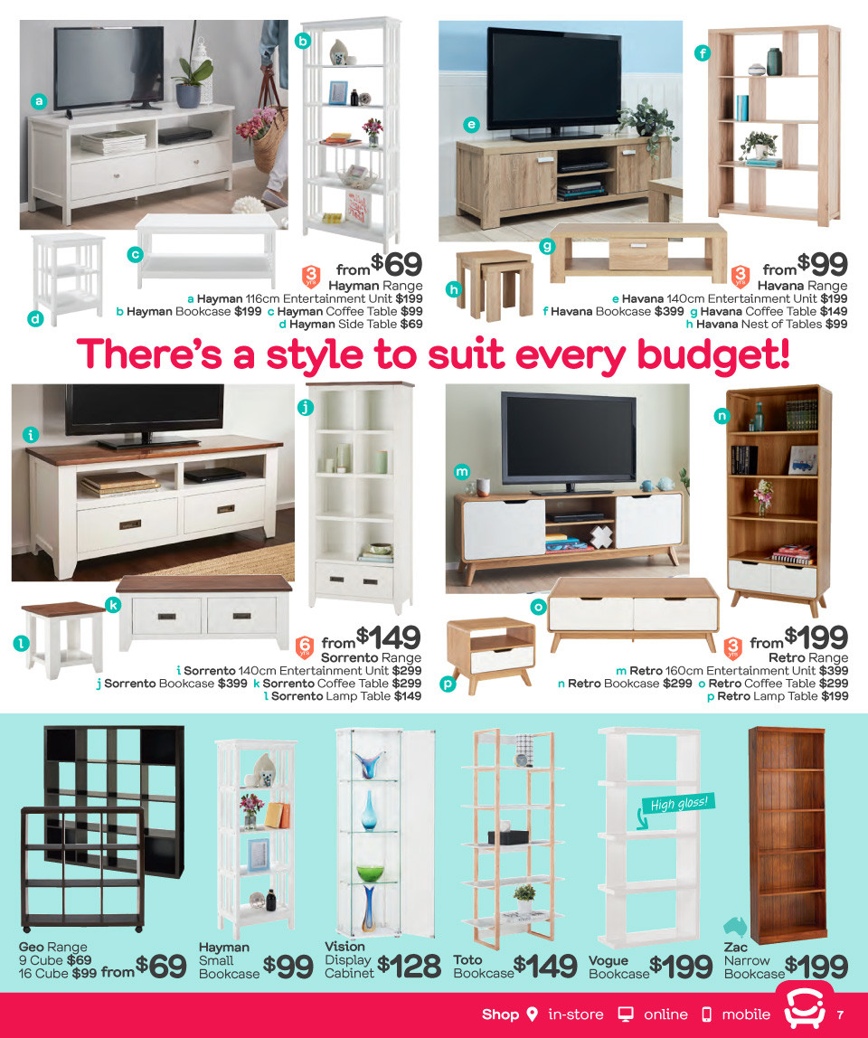Fantastic Furniture catalogue  - 26.3.2018 - 22.4.2018. Page 7.