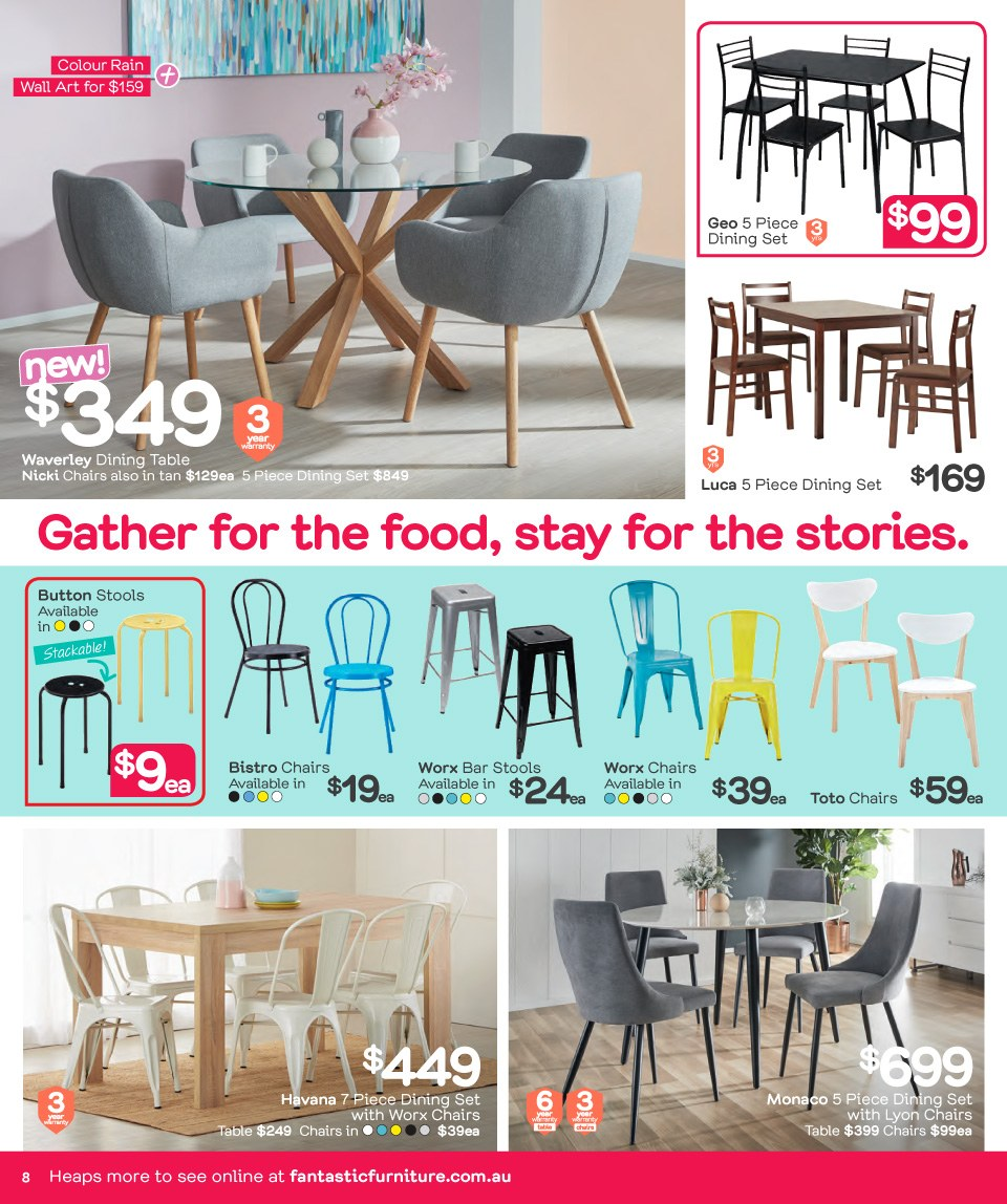 Fantastic Furniture catalogue  - 26.3.2018 - 22.4.2018. Page 8.