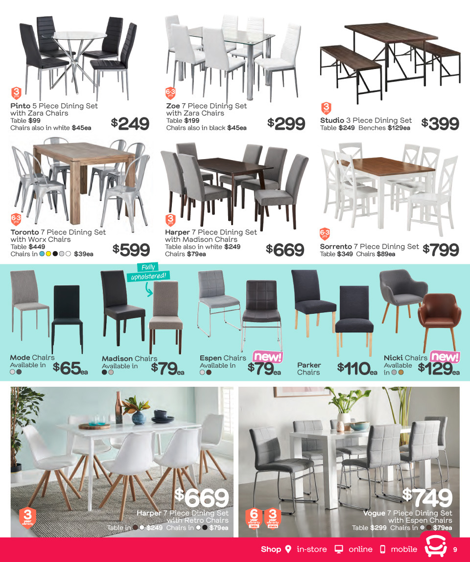 Fantastic Furniture catalogue  - 26.3.2018 - 22.4.2018. Page 9.