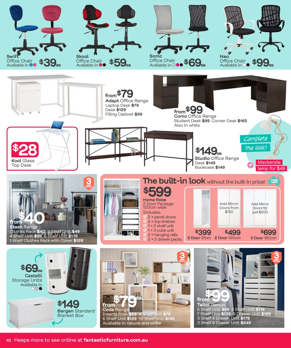 Fantastic Furniture catalogue  - 26.3.2018 - 22.4.2018. Page 10.