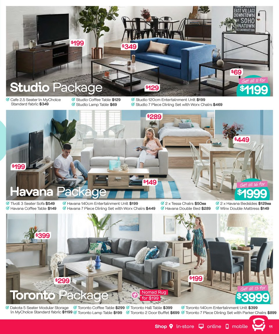 Fantastic Furniture catalogue  - 26.3.2018 - 22.4.2018. Page 11.