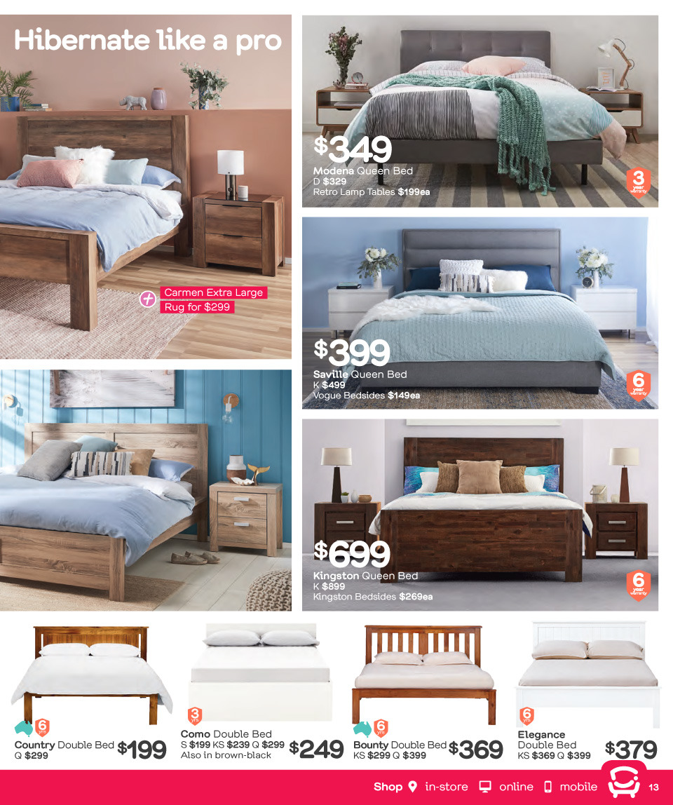 Fantastic Furniture catalogue  - 26.3.2018 - 22.4.2018. Page 13.