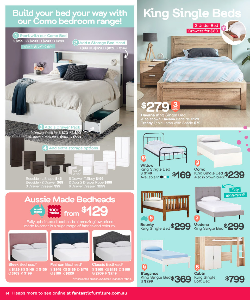 Fantastic Furniture catalogue  - 26.3.2018 - 22.4.2018. Page 14.