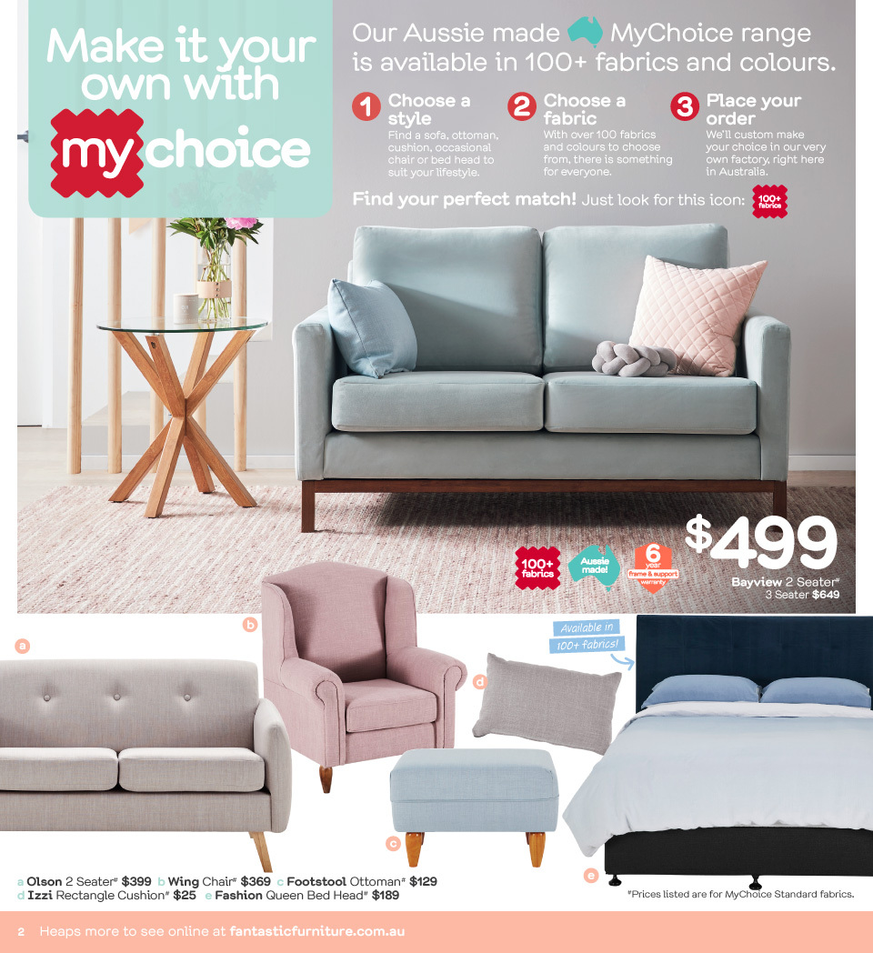 Fantastic Furniture catalogue  - 23.4.2018 - 20.5.2018. Page 2.