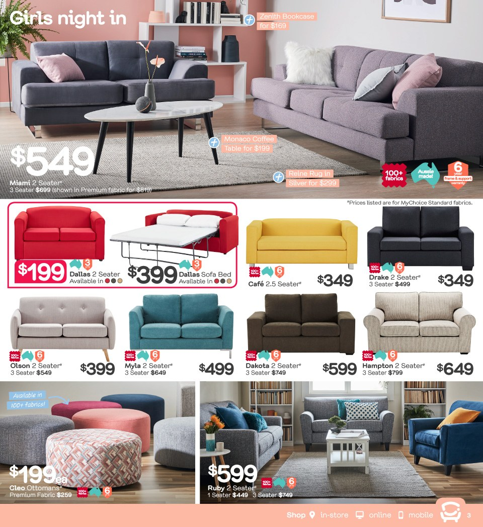Fantastic Furniture catalogue  - 23.4.2018 - 20.5.2018. Page 3.