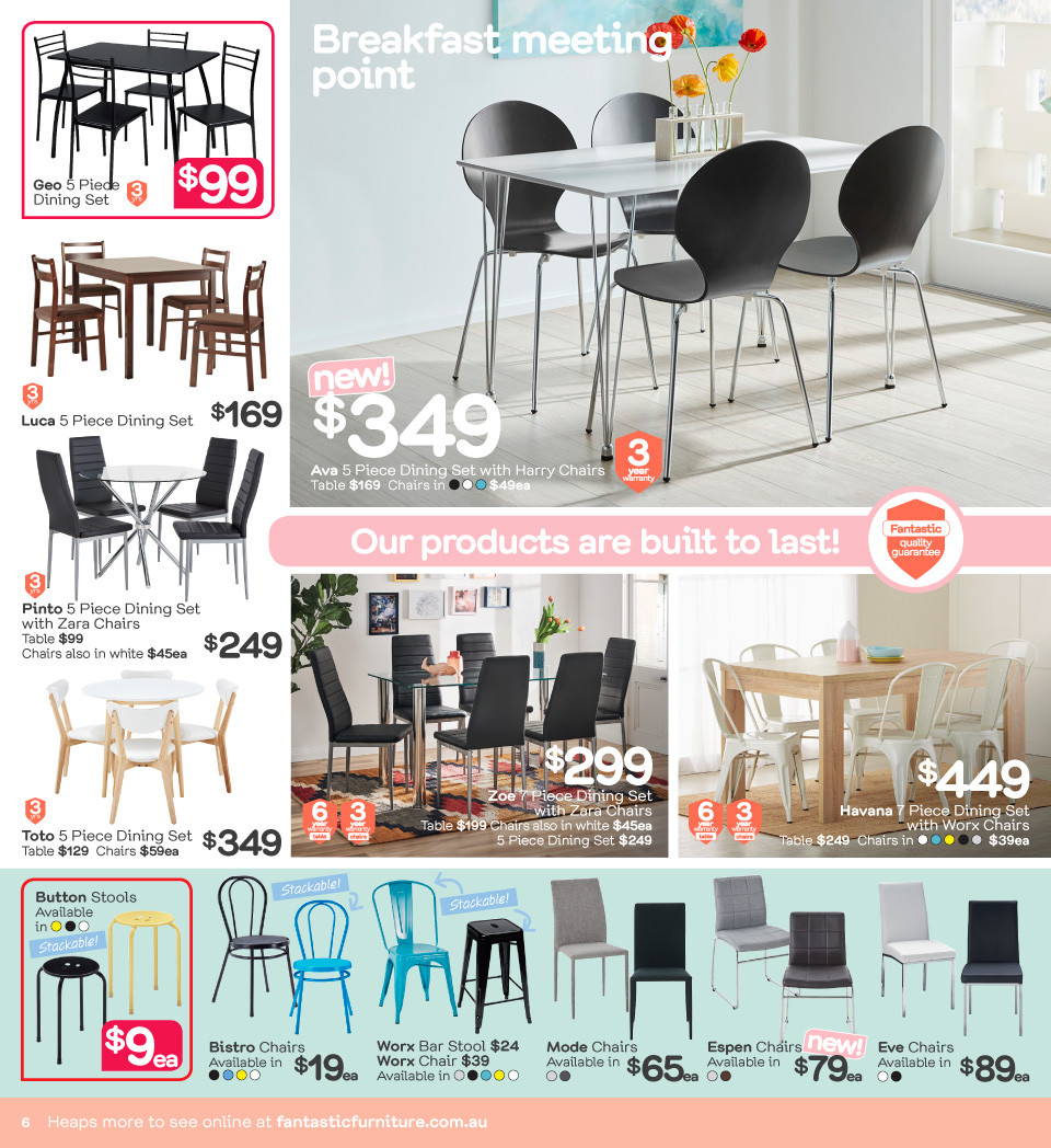 Fantastic Furniture catalogue  - 23.4.2018 - 20.5.2018. Page 6.