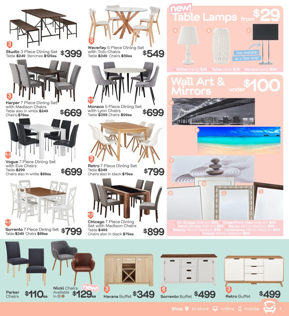 Fantastic Furniture catalogue  - 23.4.2018 - 20.5.2018. Page 7.