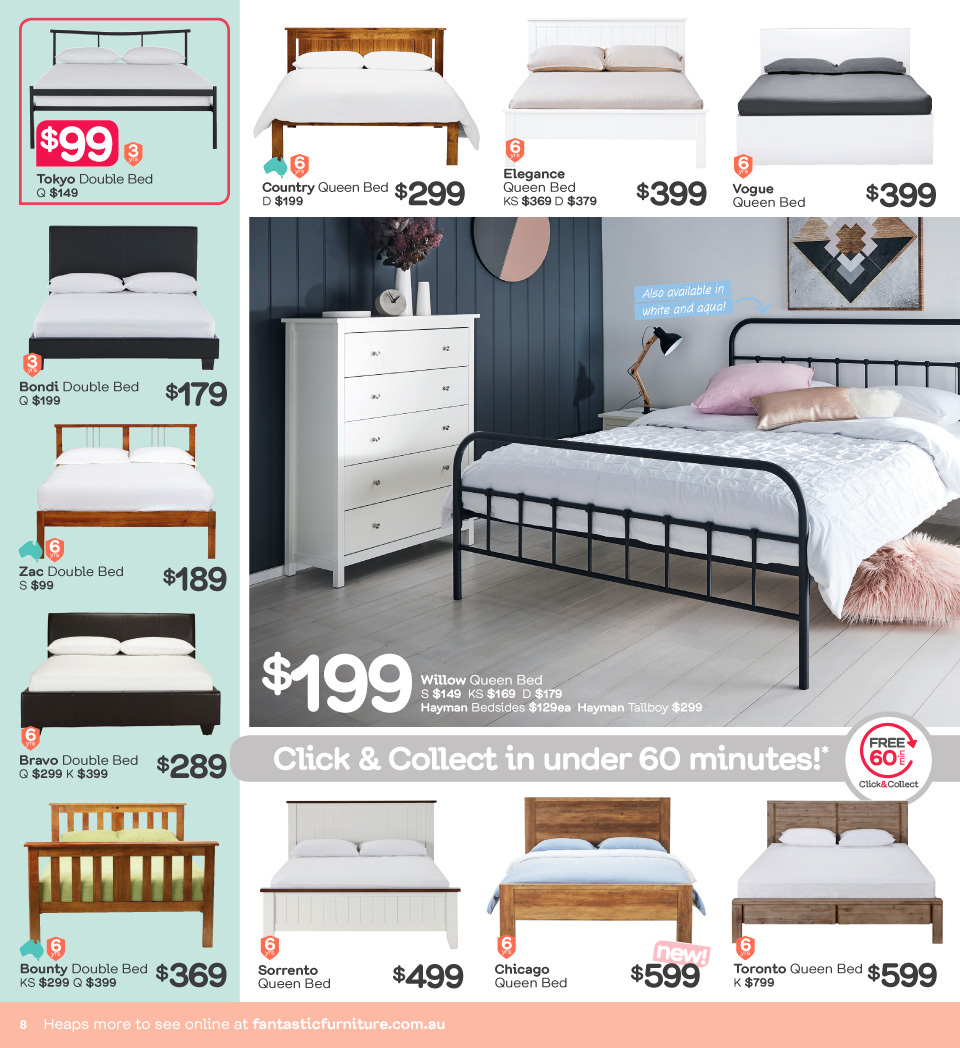 Fantastic Furniture catalogue  - 23.4.2018 - 20.5.2018. Page 8.