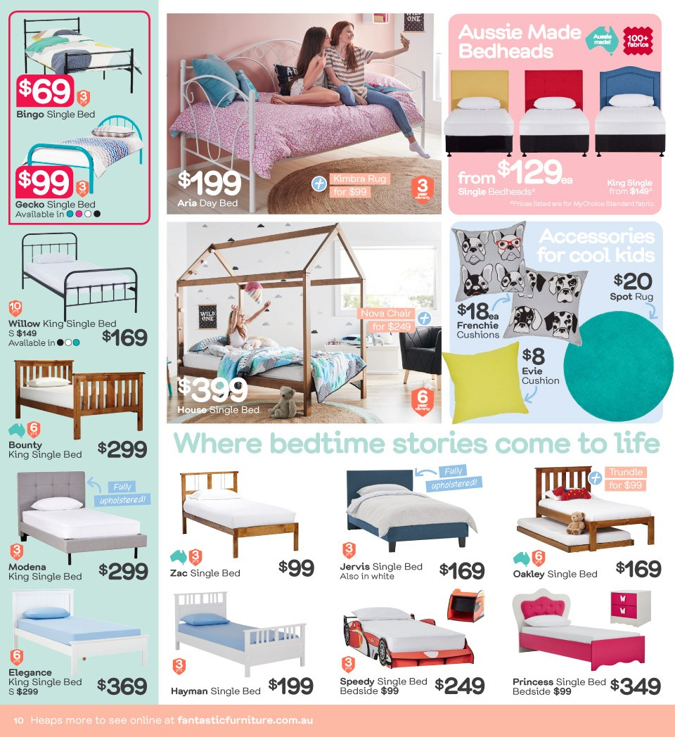 Fantastic Furniture catalogue  - 23.4.2018 - 20.5.2018. Page 10.