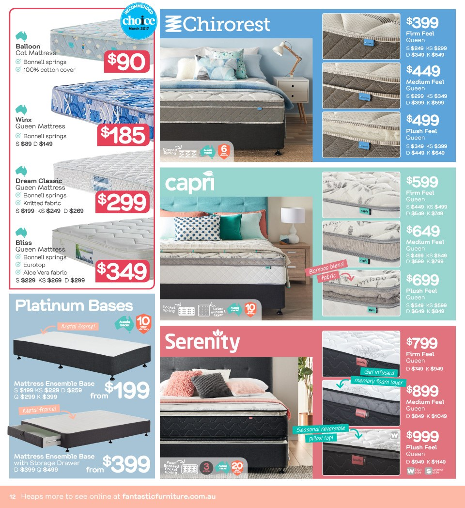 Fantastic Furniture catalogue  - 23.4.2018 - 20.5.2018. Page 12.