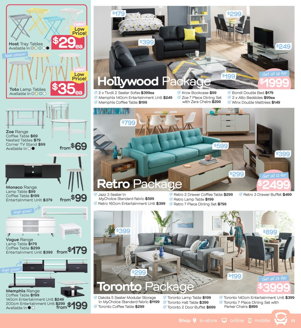 Fantastic Furniture catalogue  - 23.4.2018 - 20.5.2018. Page 13.