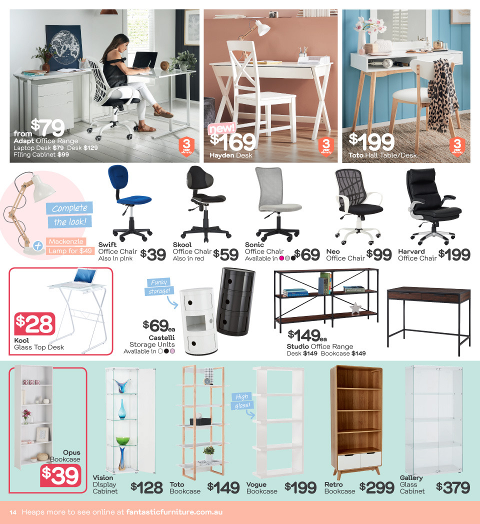 Fantastic Furniture catalogue  - 23.4.2018 - 20.5.2018. Page 14.