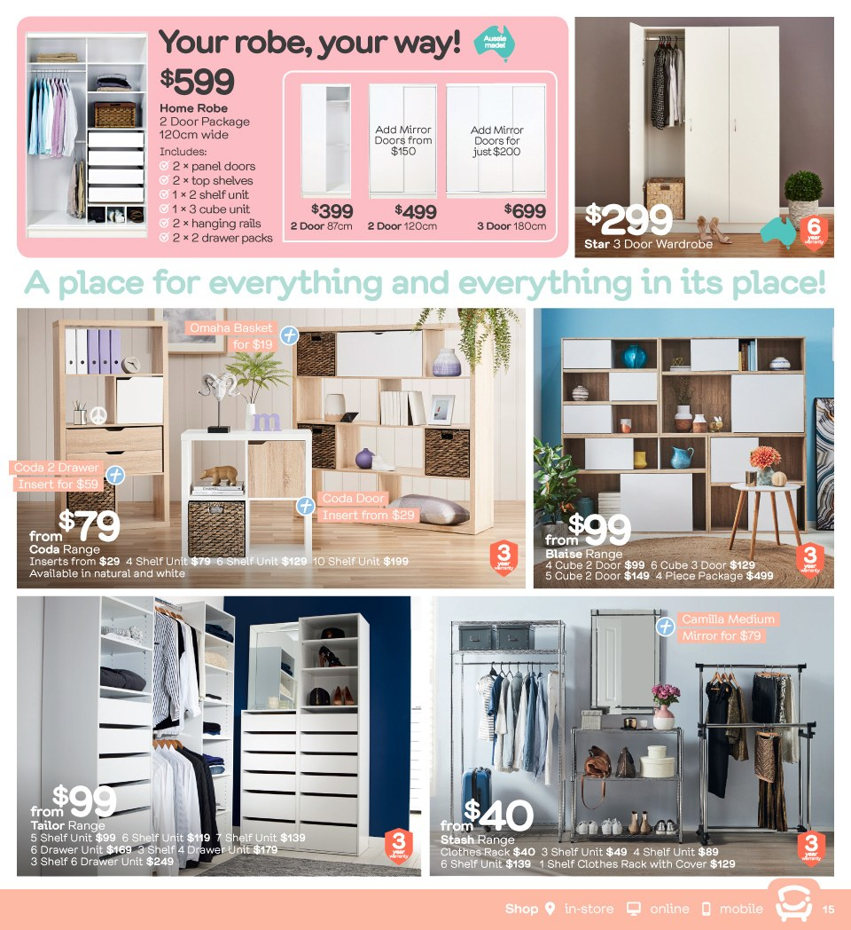 Fantastic Furniture catalogue  - 23.4.2018 - 20.5.2018. Page 15.