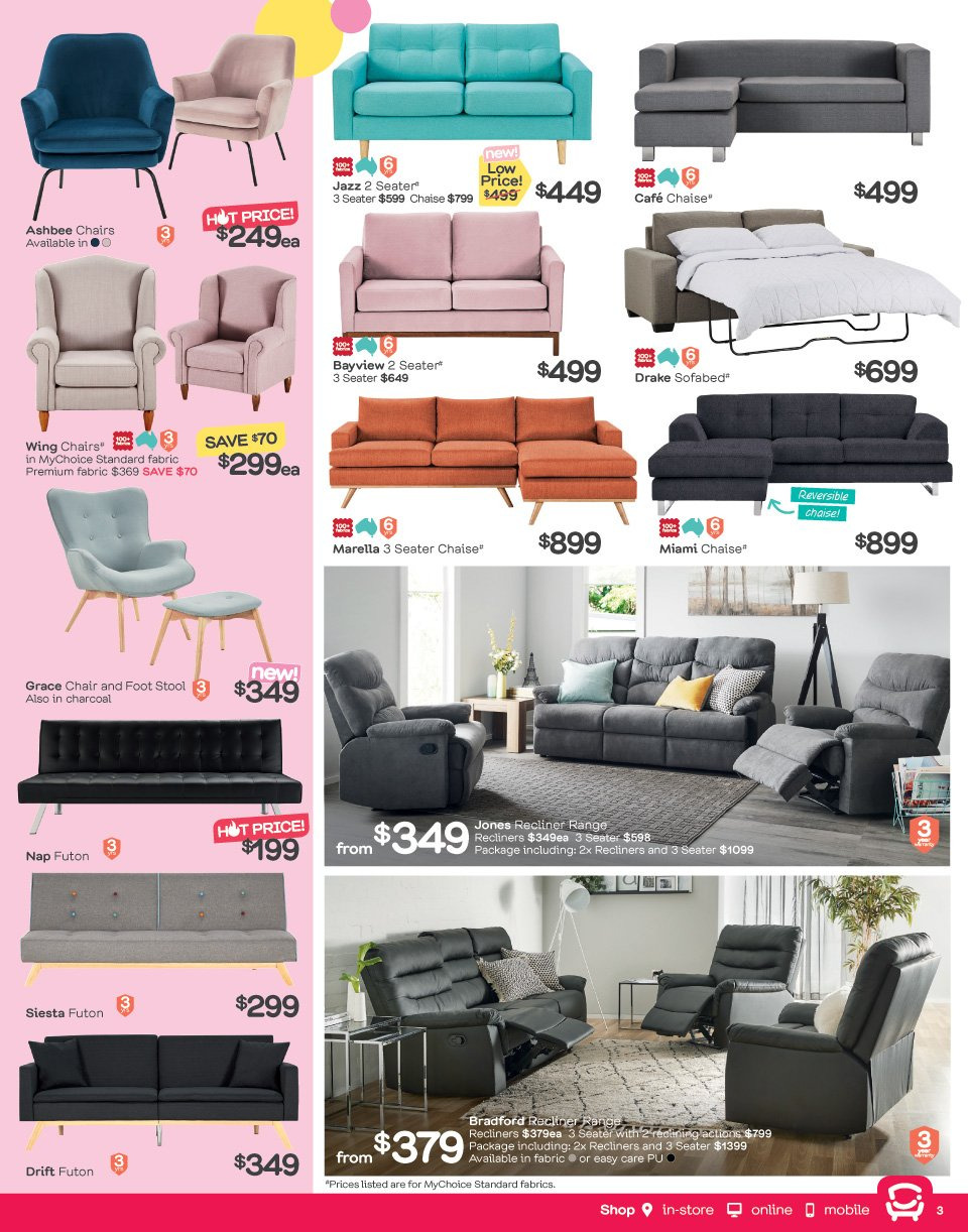 Fantastic Furniture catalogue  - 21.5.2018 - 17.6.2018. Page 3.