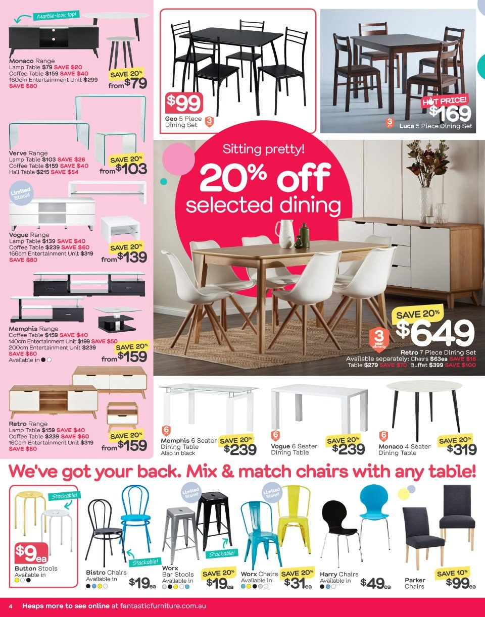 Fantastic Furniture catalogue  - 21.5.2018 - 17.6.2018. Page 4.