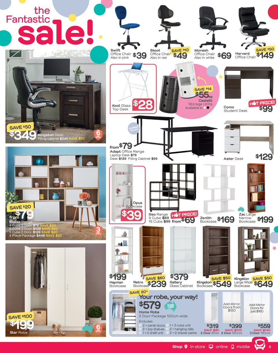 Fantastic Furniture catalogue  - 21.5.2018 - 17.6.2018. Page 5.