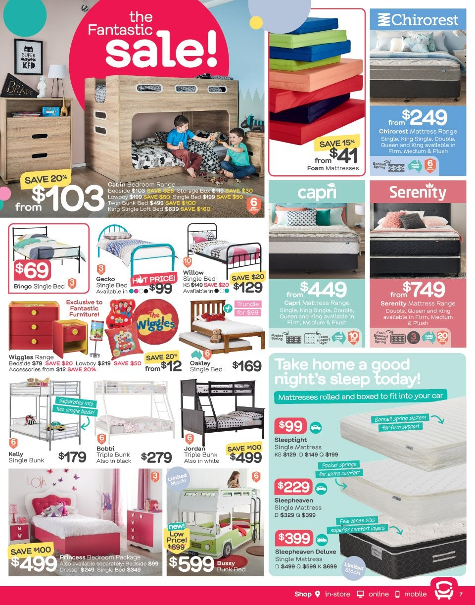 Fantastic Furniture catalogue  - 21.5.2018 - 17.6.2018. Page 7.