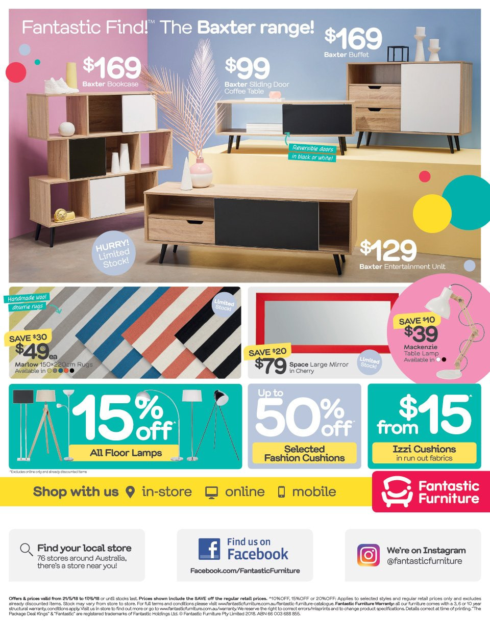 Fantastic Furniture catalogue  - 21.5.2018 - 17.6.2018. Page 8.
