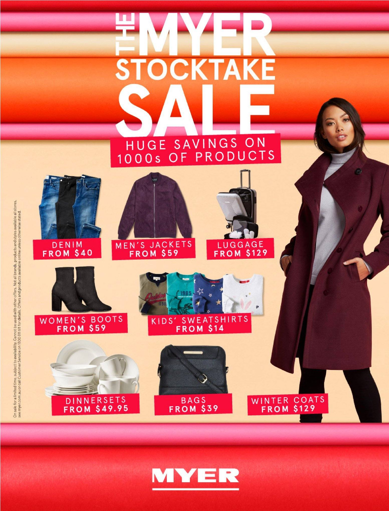 Myer catalogue  - 30.5.2018 - 8.7.2018. Page 1.