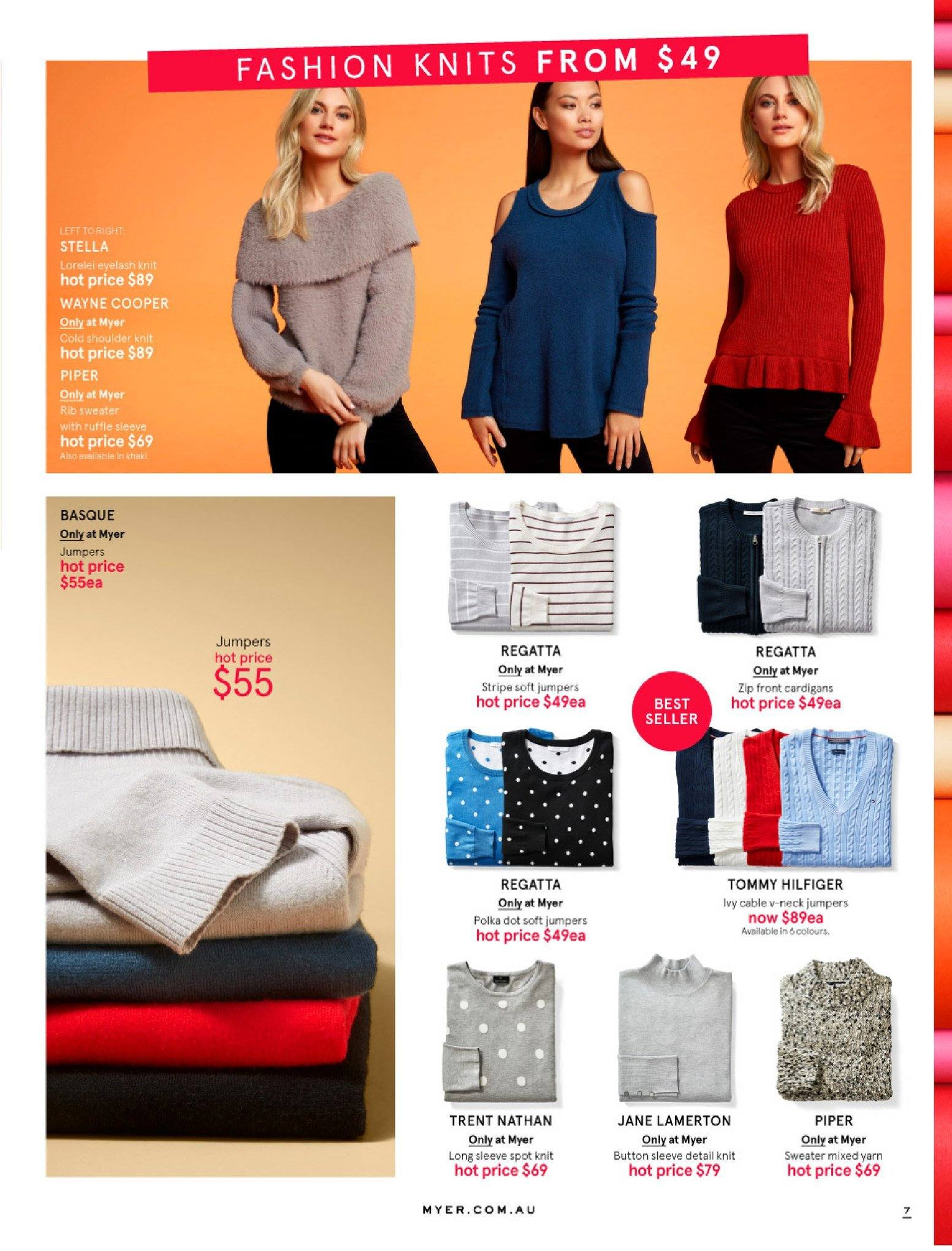 Myer catalogue  - 30.5.2018 - 8.7.2018. Page 7.