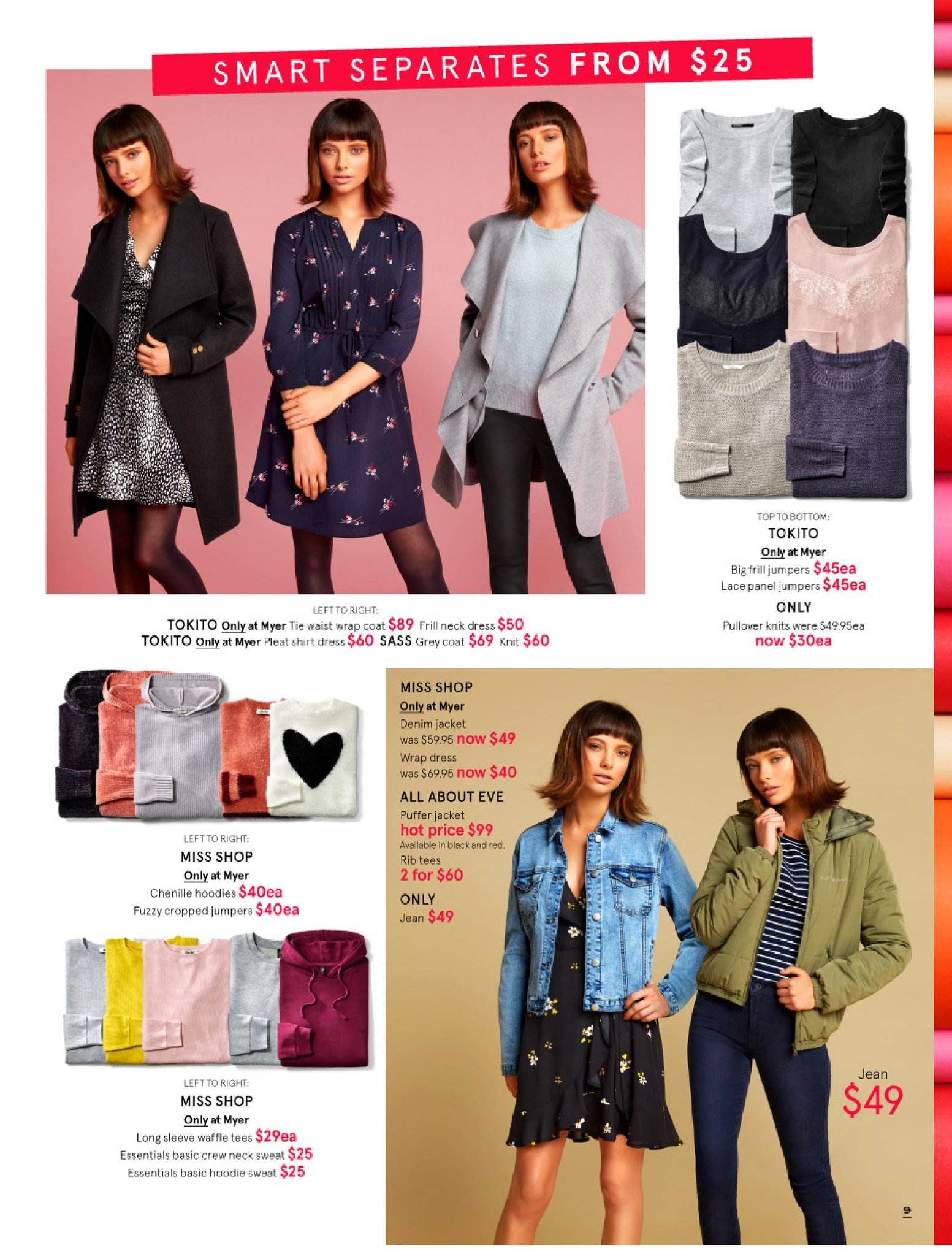 Myer catalogue  - 30.5.2018 - 8.7.2018. Page 9.