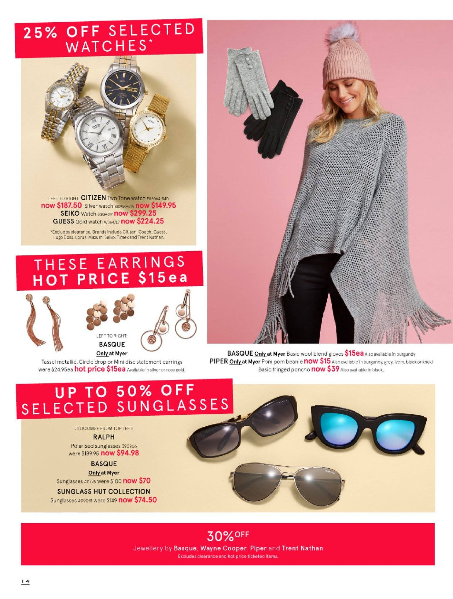 Myer catalogue  - 30.5.2018 - 8.7.2018. Page 14.