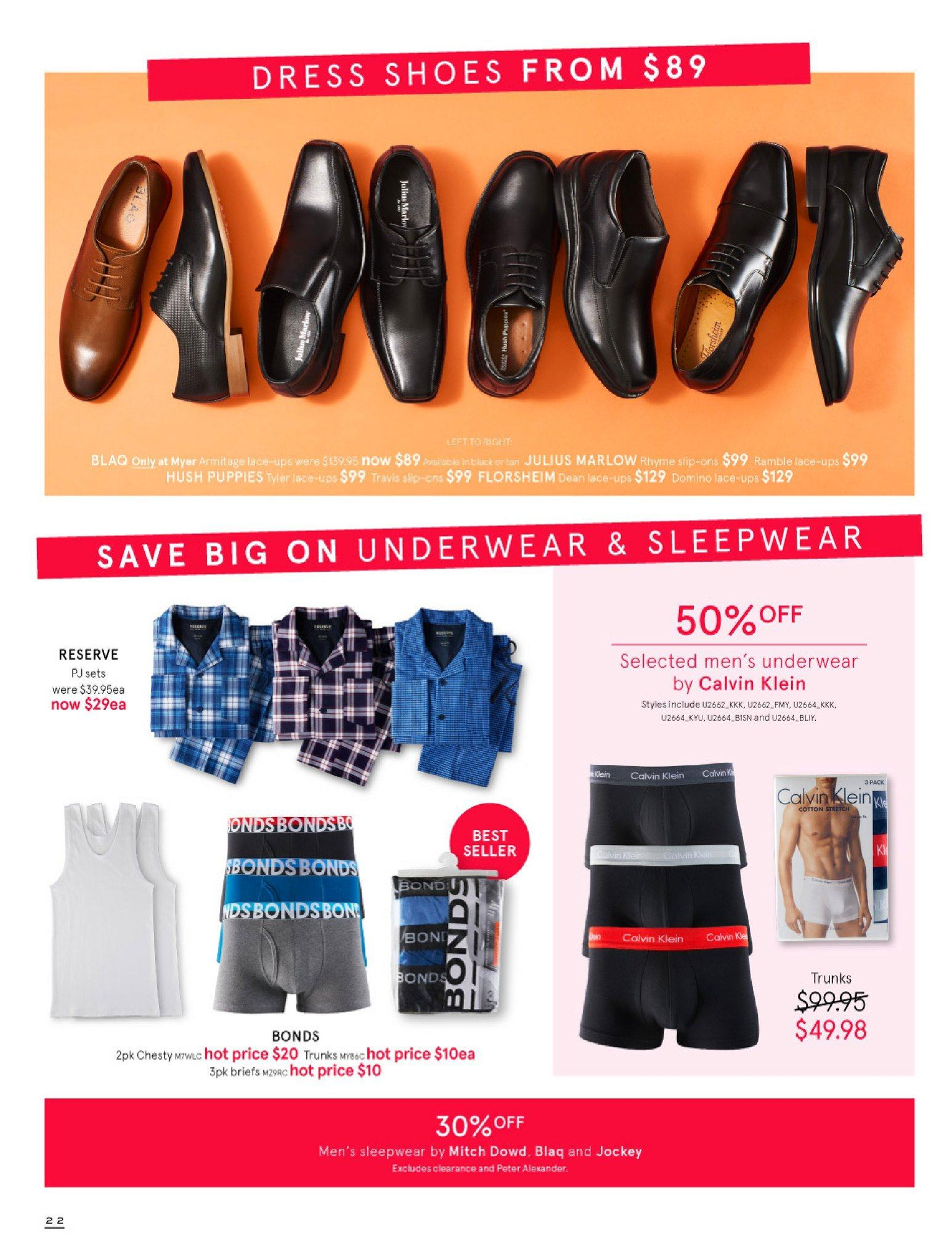 Myer catalogue  - 30.5.2018 - 8.7.2018. Page 22.