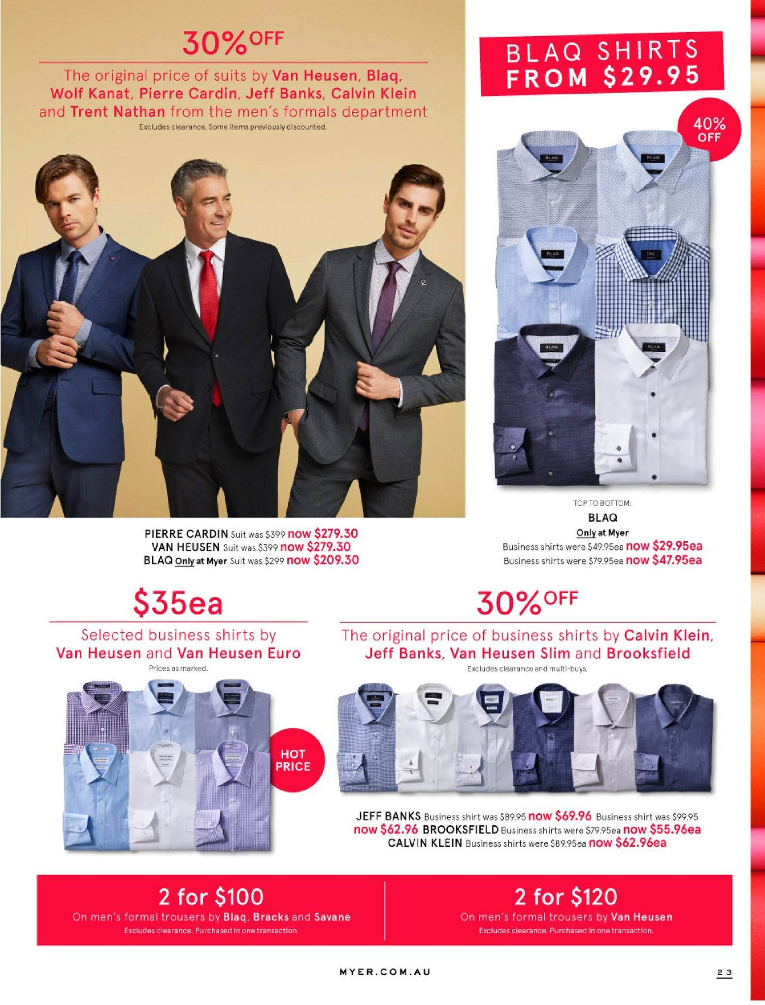 Myer catalogue  - 30.5.2018 - 8.7.2018. Page 23.