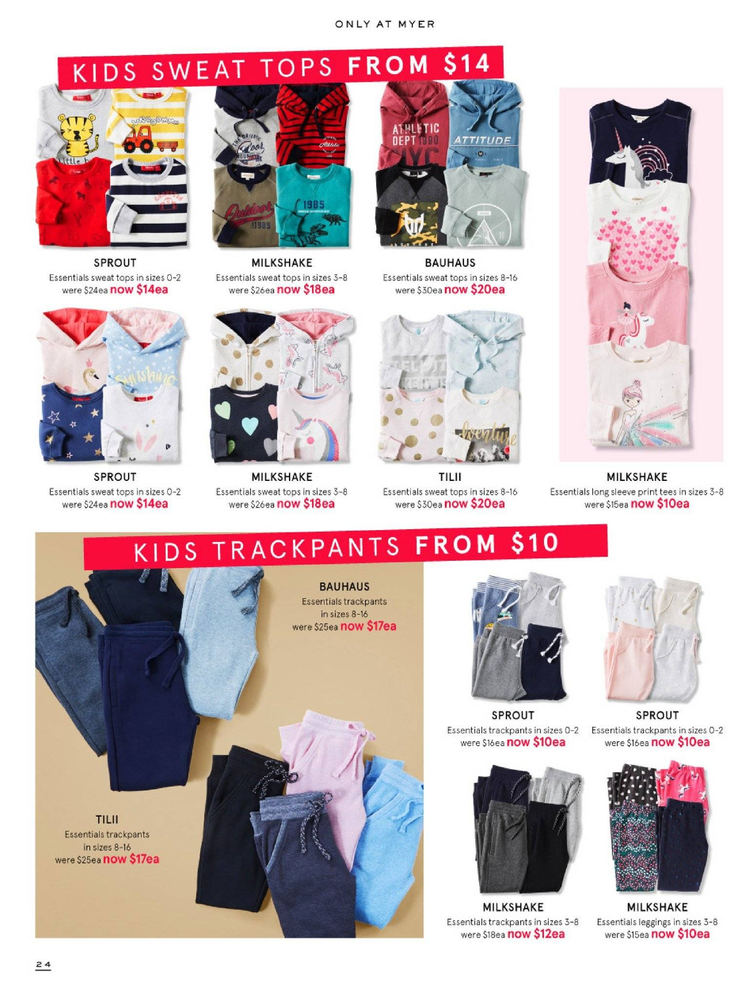 Myer catalogue  - 30.5.2018 - 8.7.2018. Page 24.