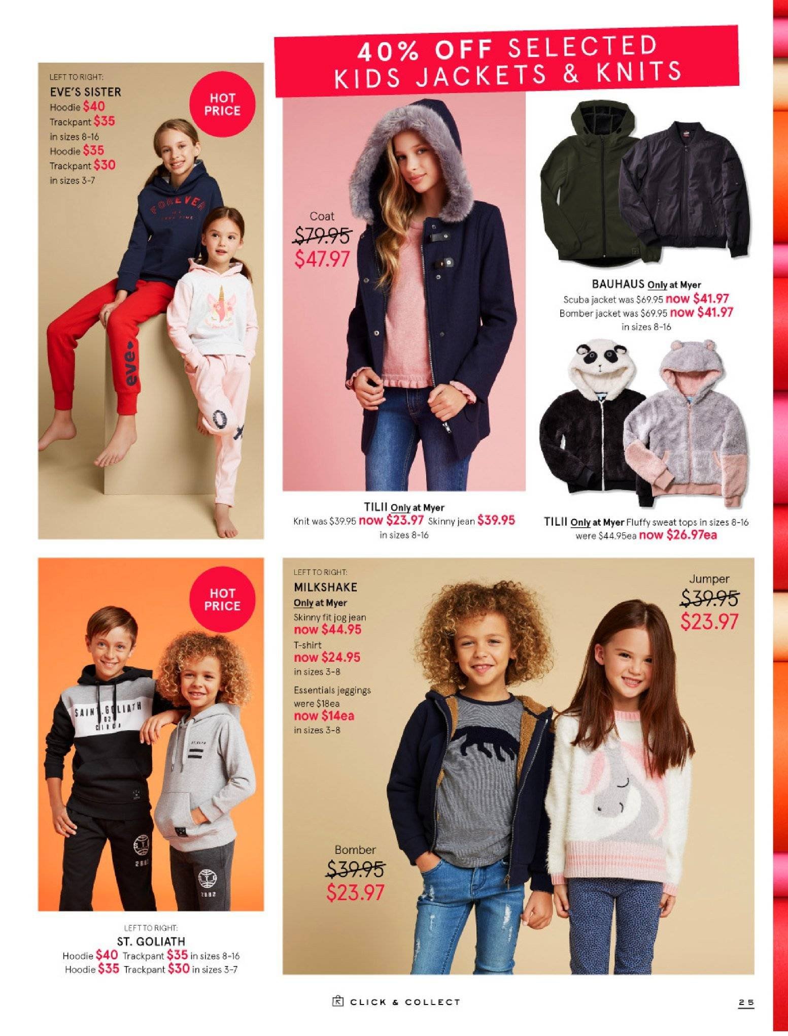 Myer catalogue  - 30.5.2018 - 8.7.2018. Page 25.