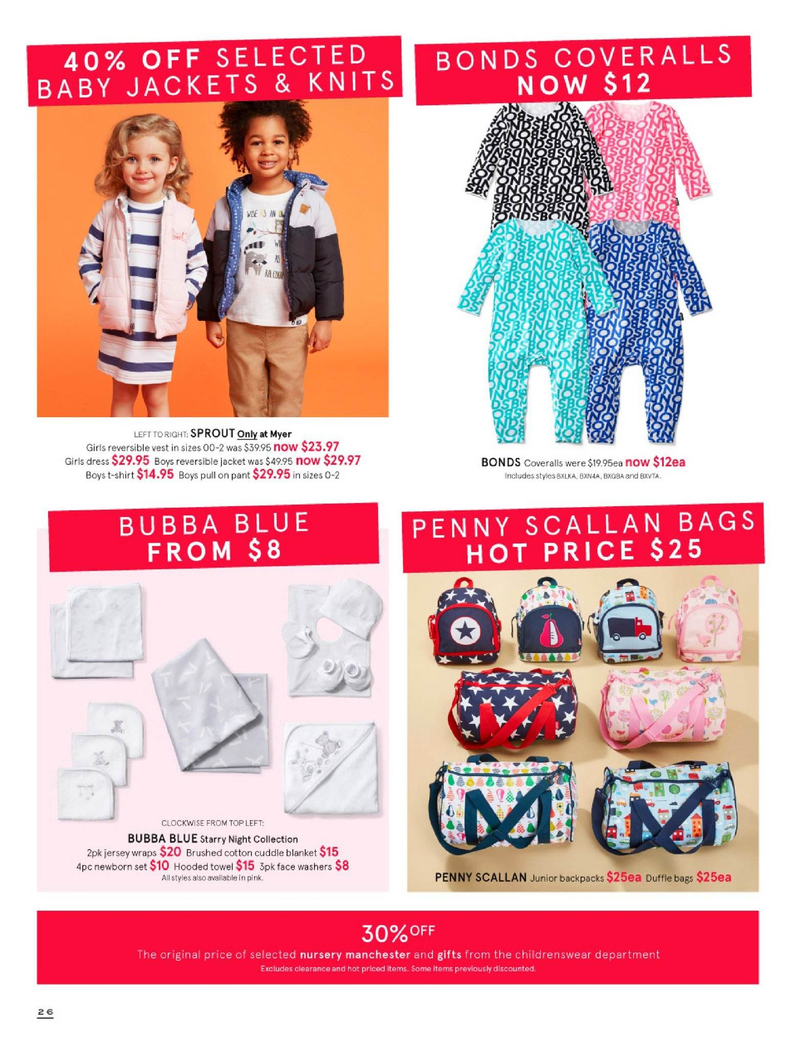 Myer catalogue  - 30.5.2018 - 8.7.2018. Page 26.