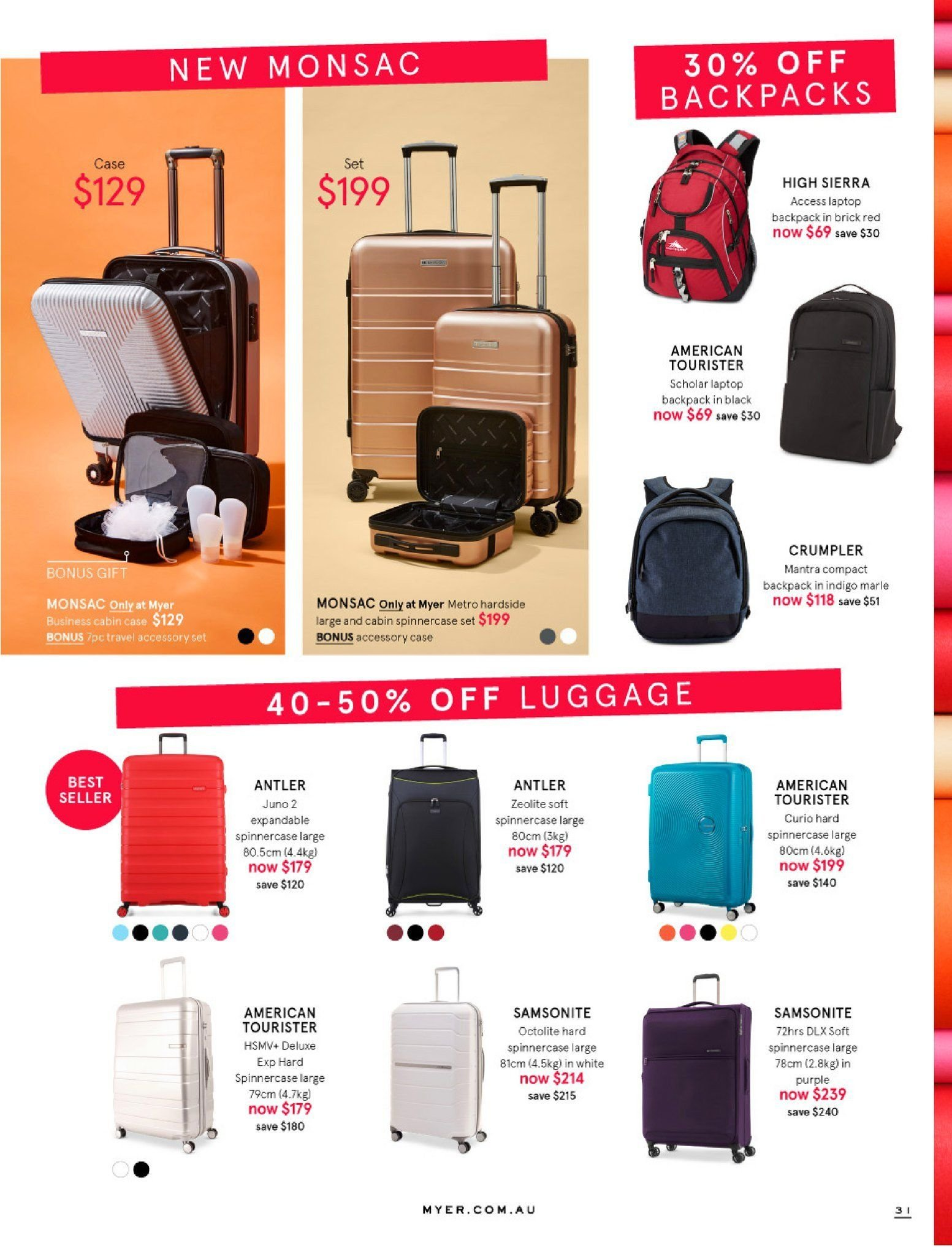 Myer catalogue  - 30.5.2018 - 8.7.2018. Page 31.