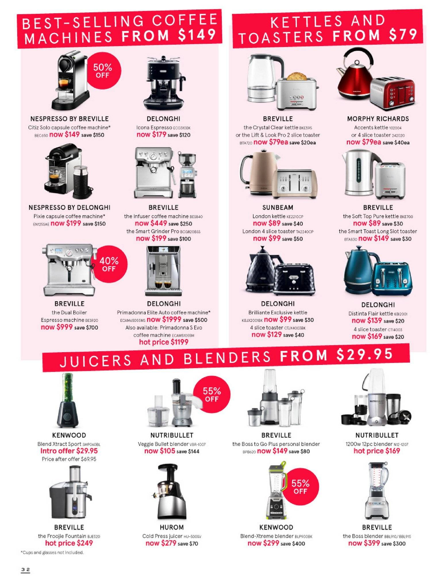 Myer catalogue  - 30.5.2018 - 8.7.2018. Page 32.