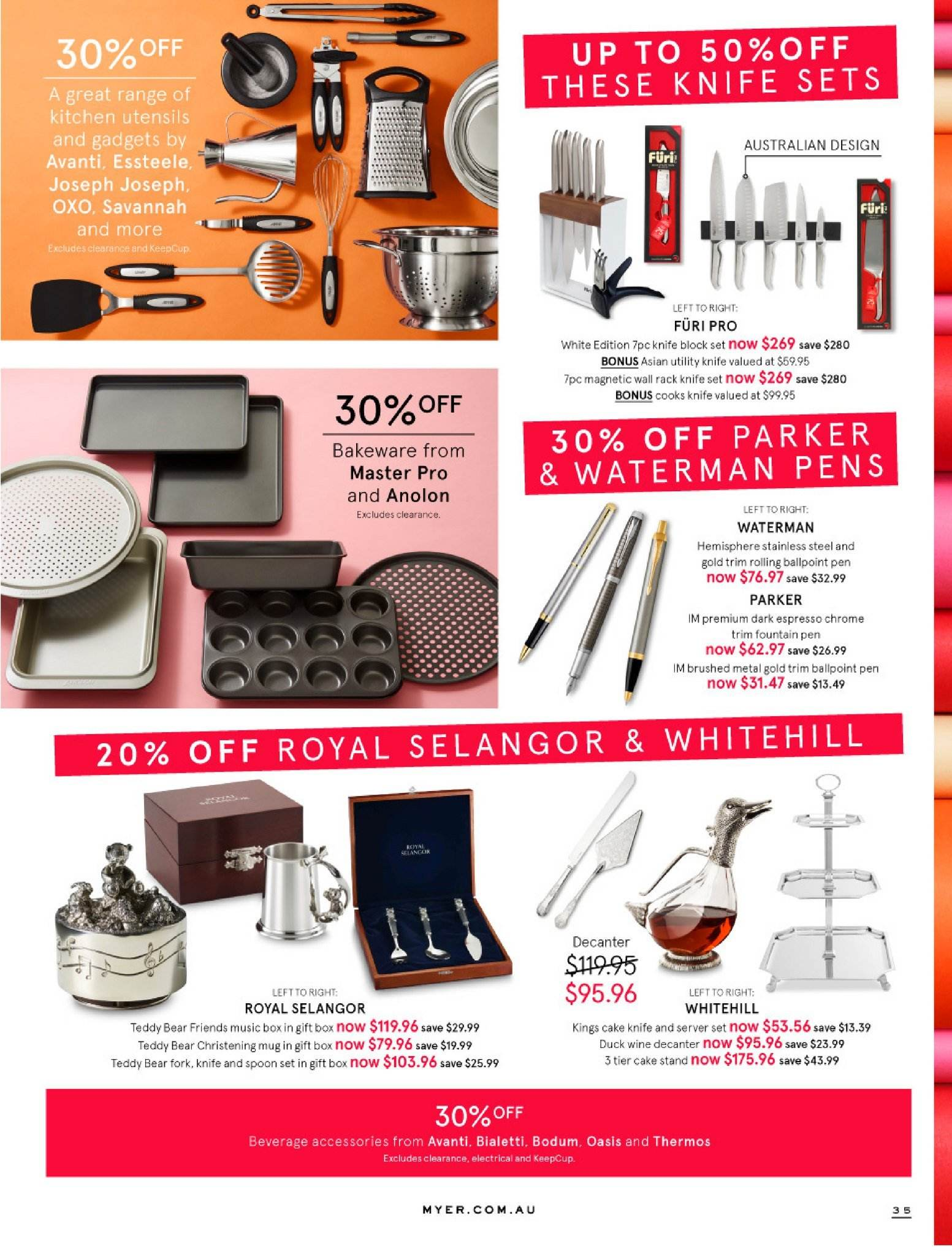 Myer catalogue  - 30.5.2018 - 8.7.2018. Page 35.