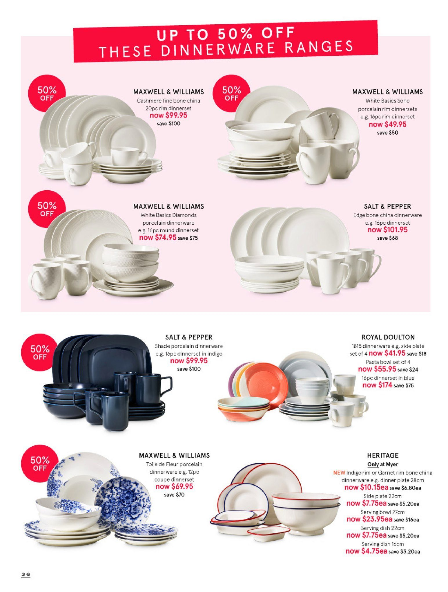 Myer catalogue  - 30.5.2018 - 8.7.2018. Page 36.