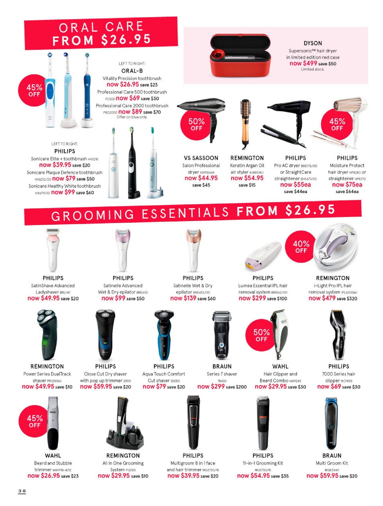 Myer catalogue  - 30.5.2018 - 8.7.2018. Page 38.