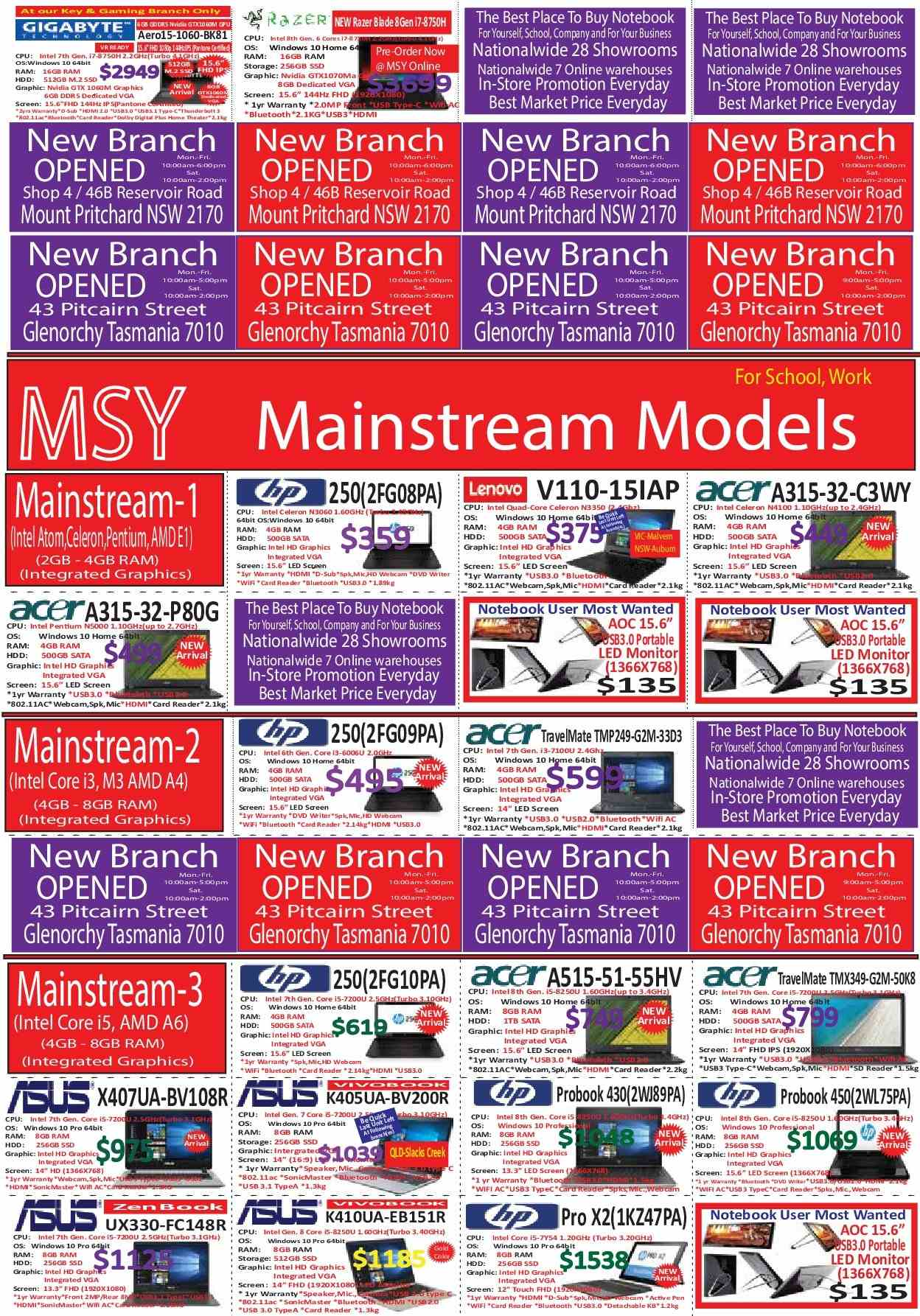 MSY Technology catalogue  - 14.6.2018 - 18.6.2018. Page 3.