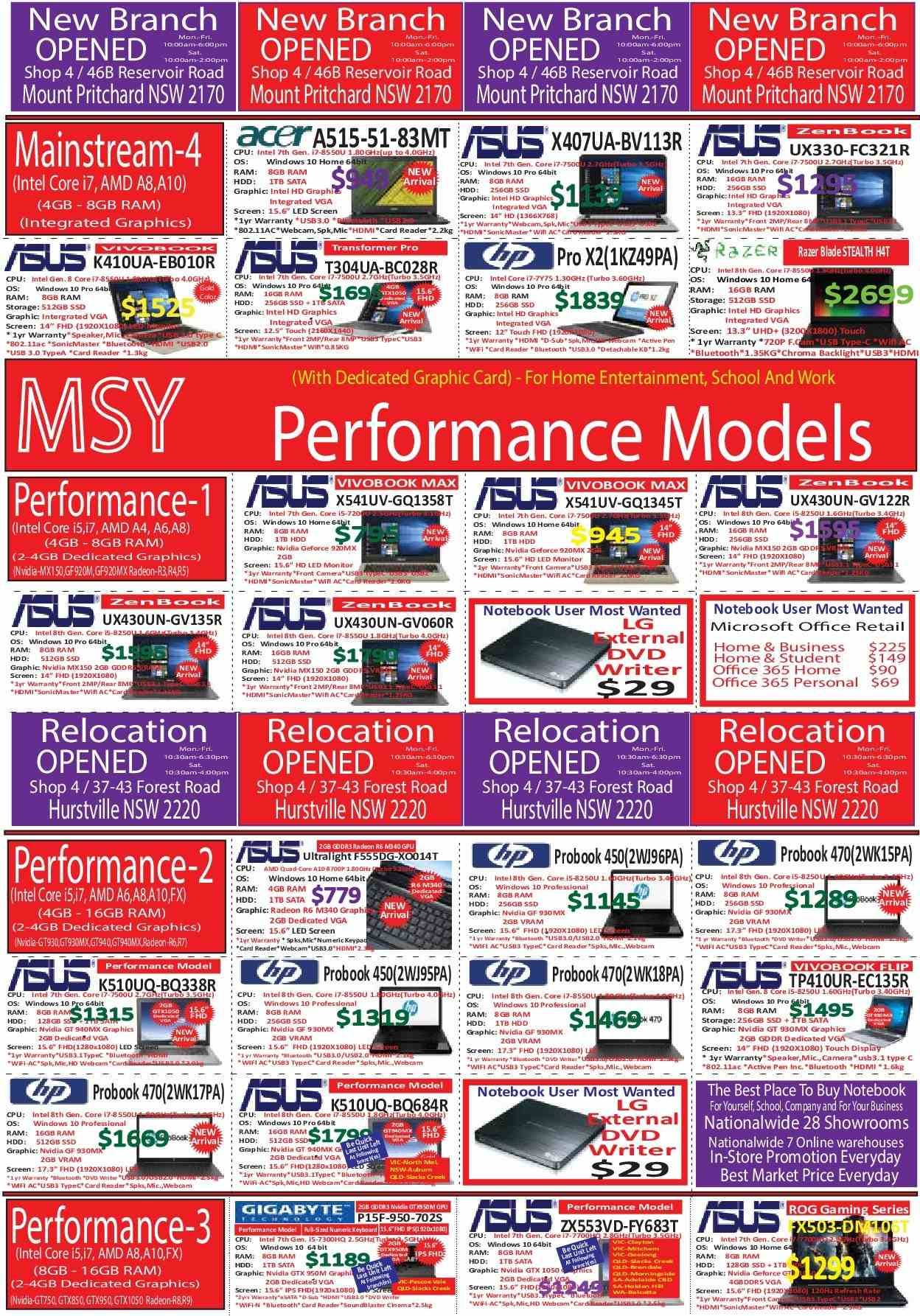 MSY Technology catalogue  - 14.6.2018 - 18.6.2018. Page 4.