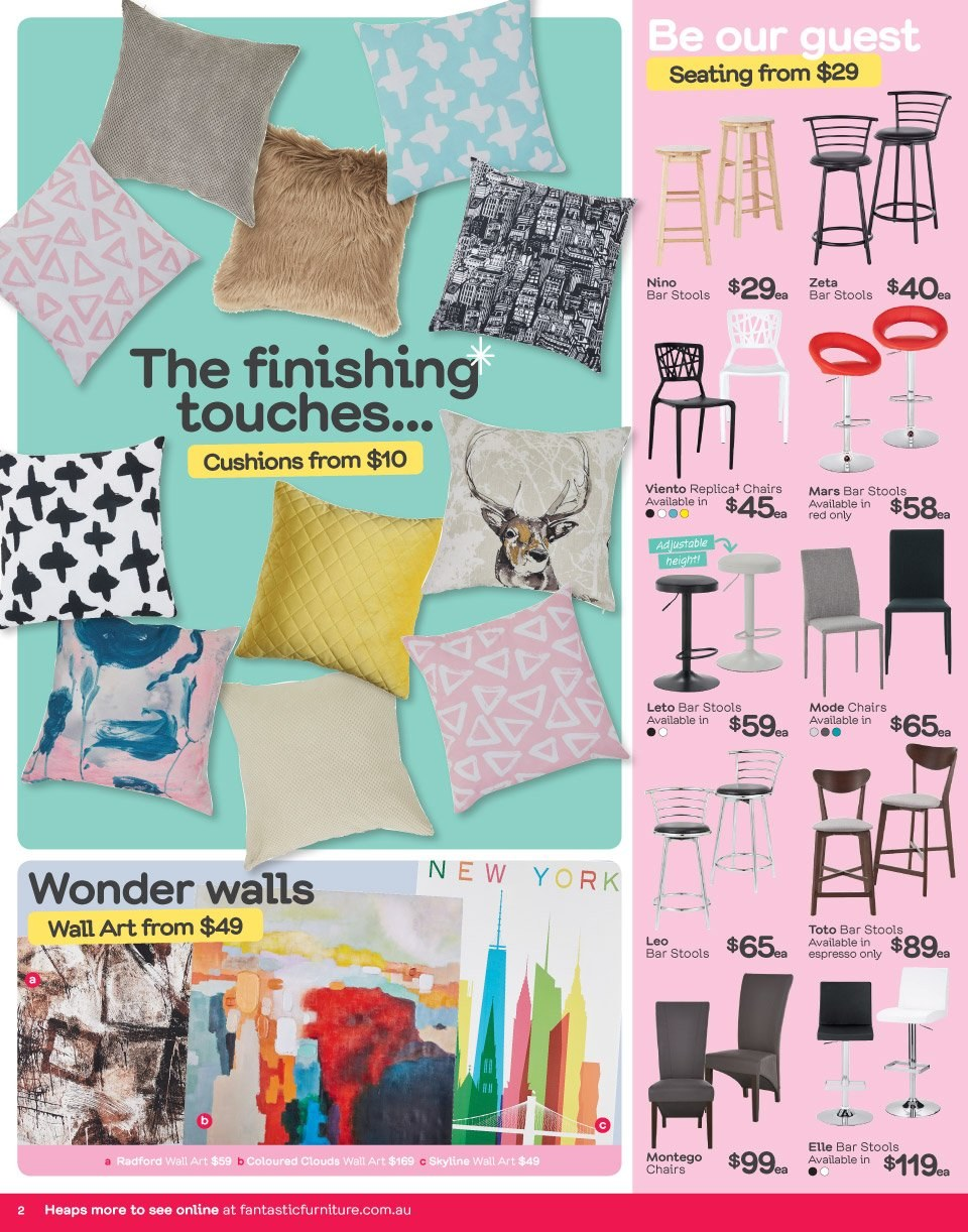 Fantastic Furniture catalogue  - 18.6.2018 - 1.7.2018. Page 2.