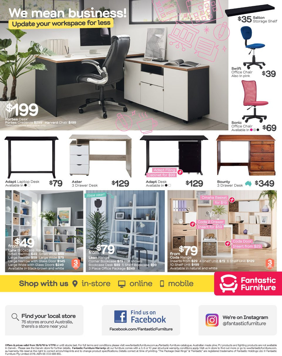 Fantastic Furniture catalogue  - 18.6.2018 - 1.7.2018. Page 4.