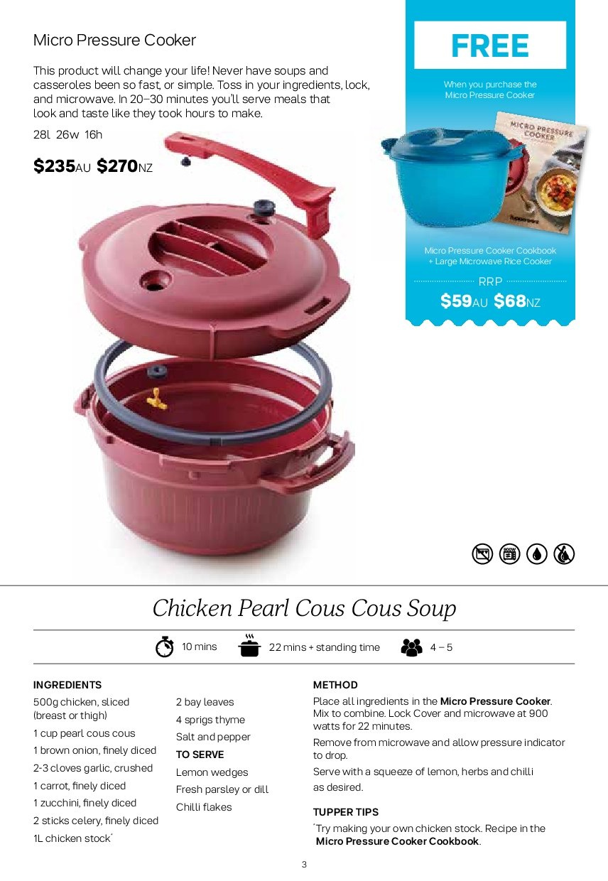 Tupperware catalogue  - 2.7.2018 - 5.8.2018. Page 3.