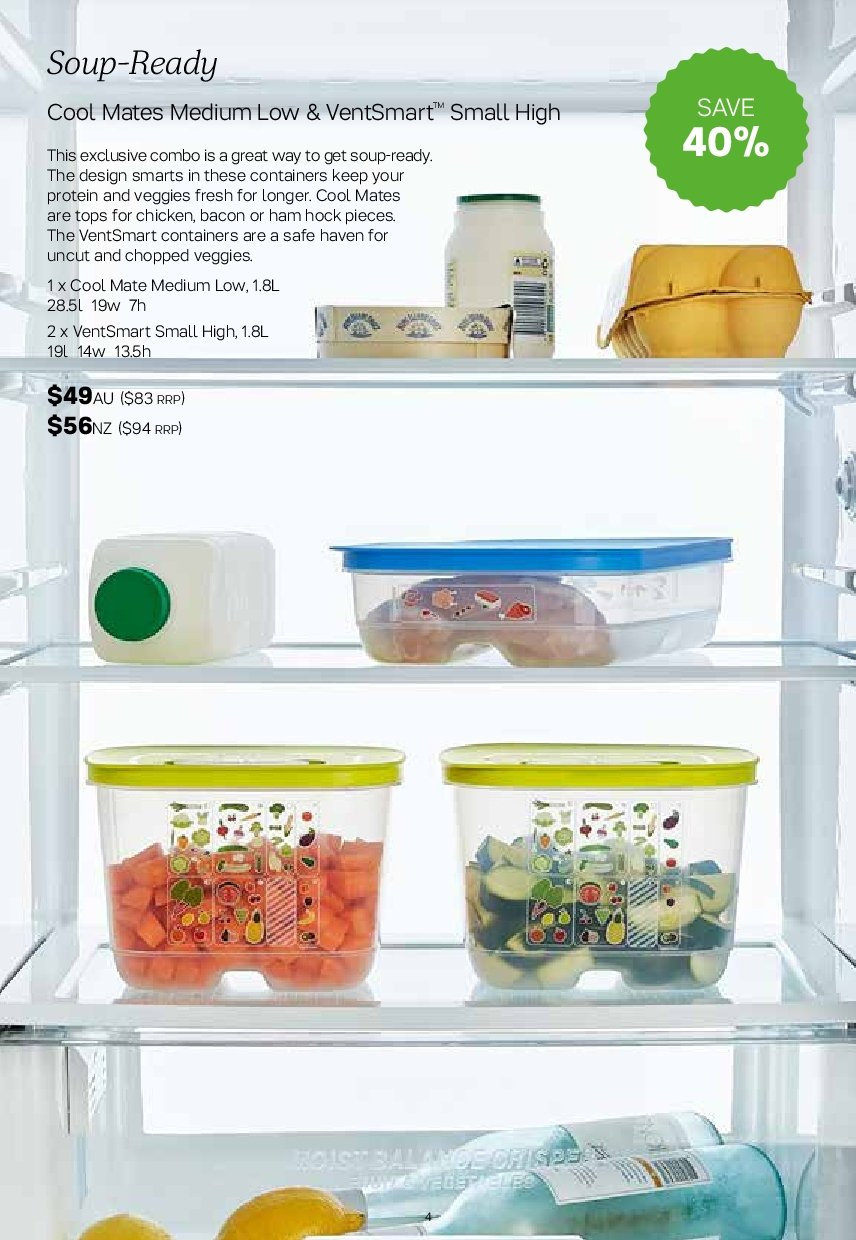 Tupperware catalogue  - 2.7.2018 - 5.8.2018. Page 4.