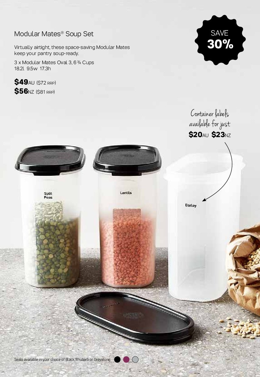 Tupperware catalogue  - 2.7.2018 - 5.8.2018. Page 5.