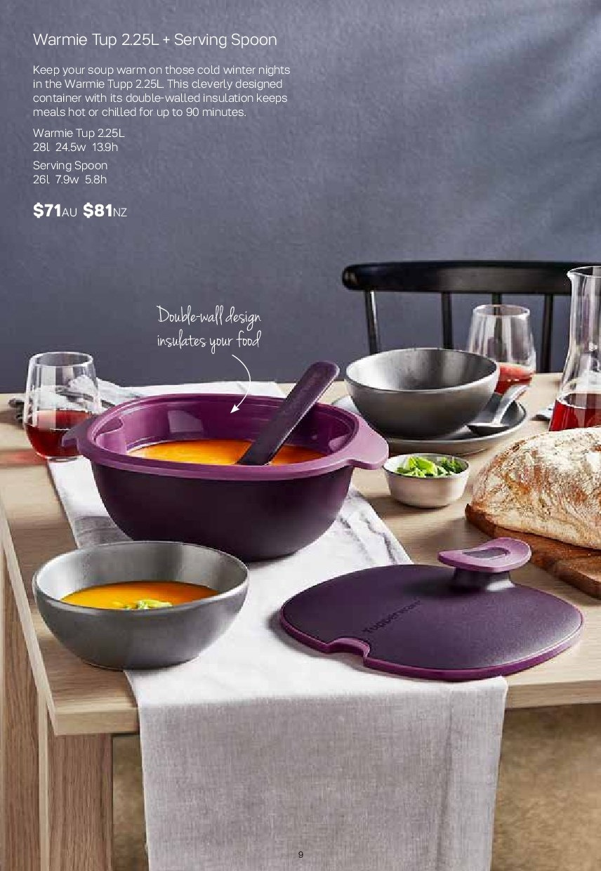 Tupperware catalogue  - 2.7.2018 - 5.8.2018. Page 9.
