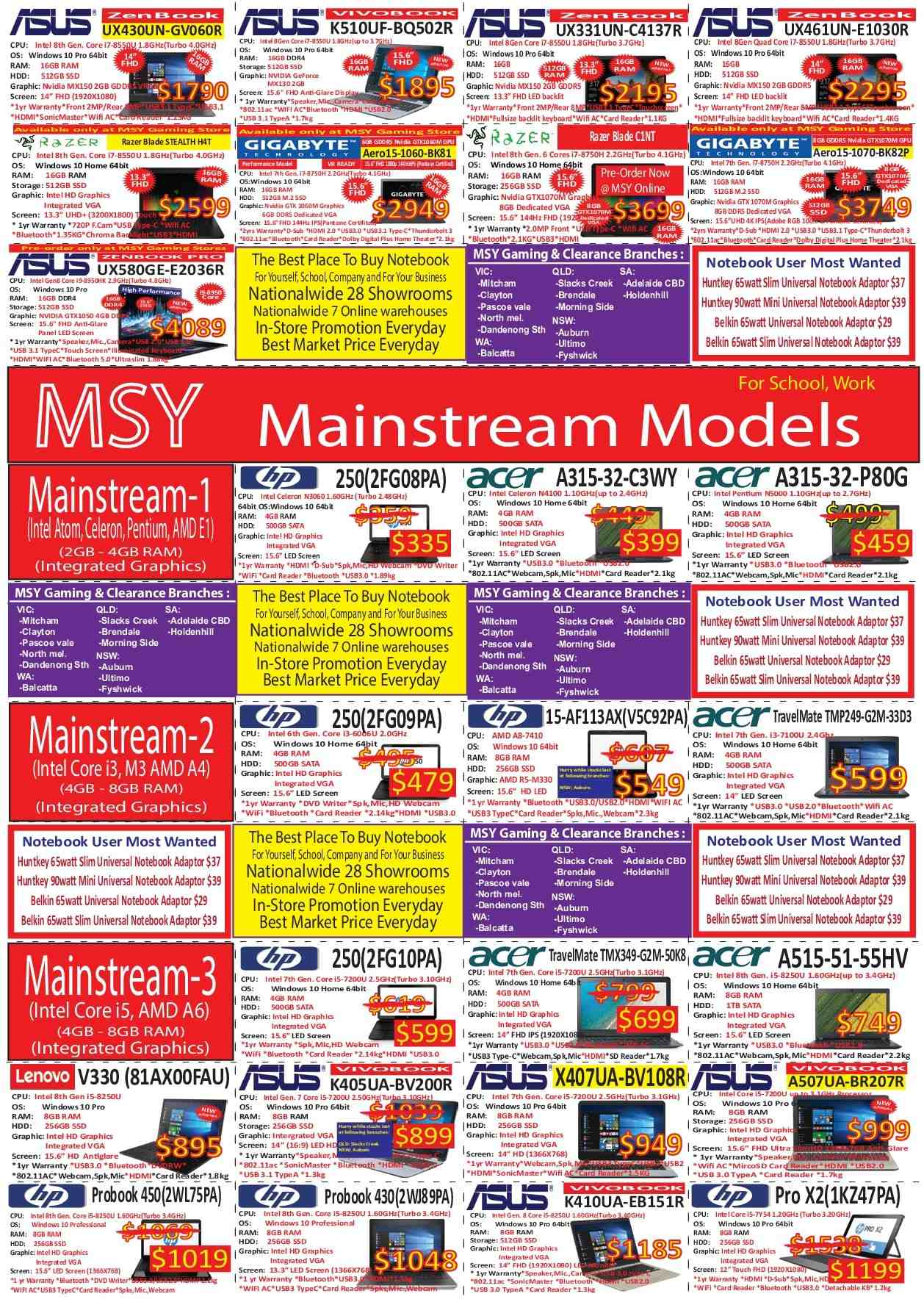 MSY Technology catalogue  - 30.7.2018 - 1.8.2018. Page 3.