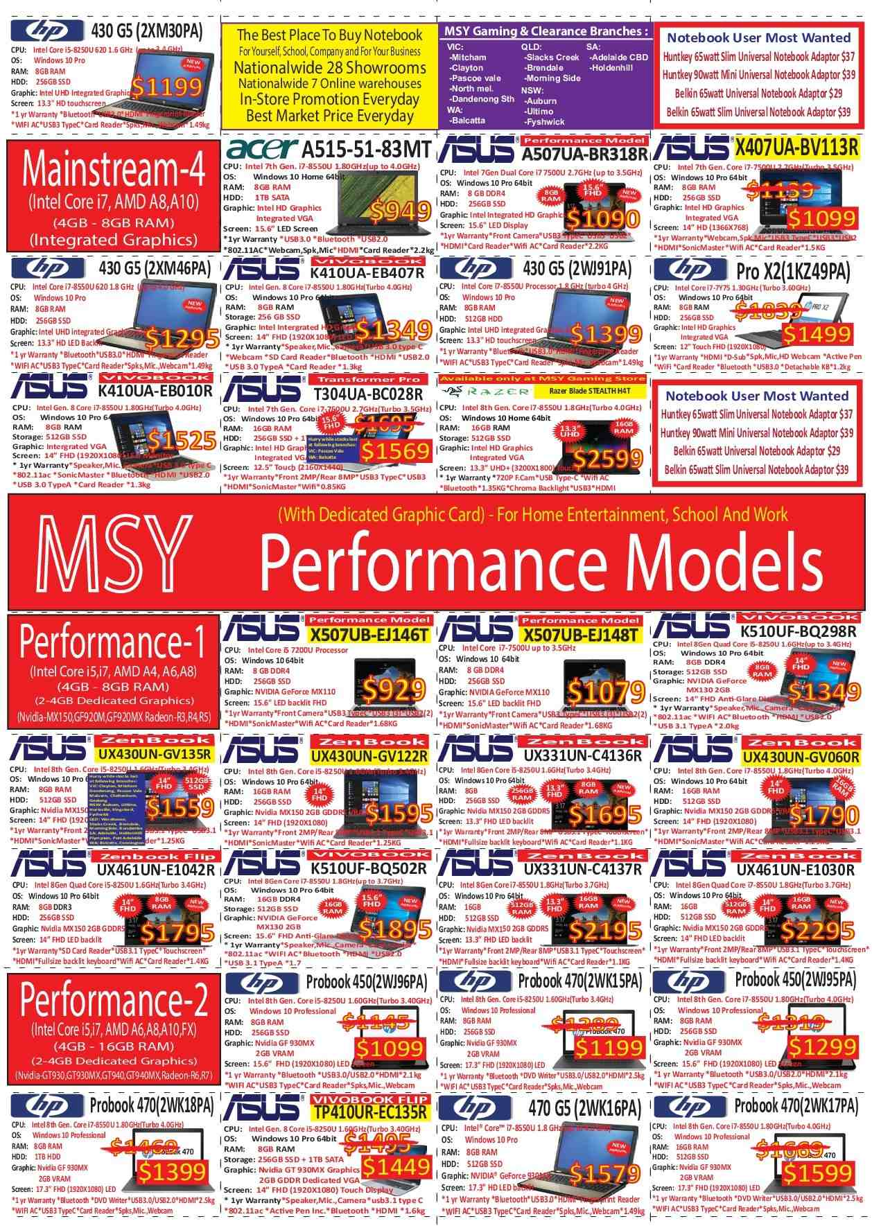 MSY Technology catalogue  - 30.7.2018 - 1.8.2018. Page 4.