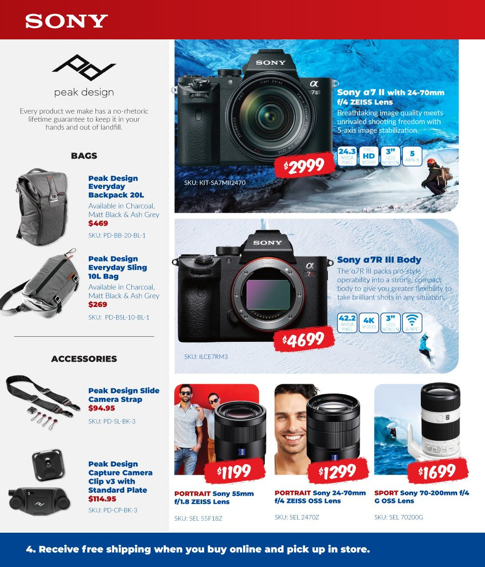 Camera House catalogue  - 6.8.2018 - 2.9.2018. Page 4.